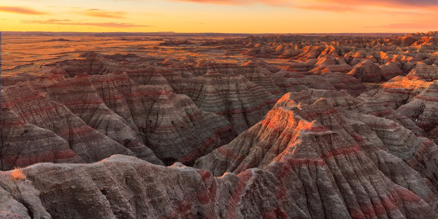 Tramonto sulle Badlands
